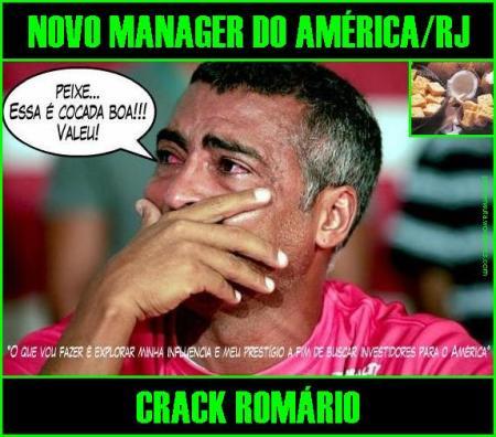 Crack Romário, o novo manager do América do RJ