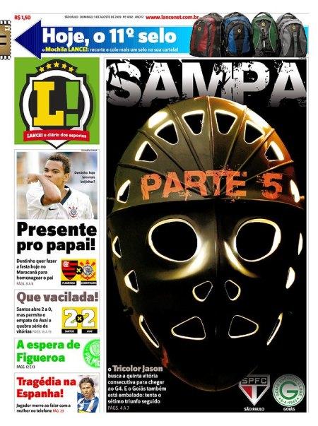 Primeira Página do LANCE! do SP
