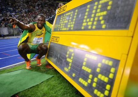 WR Usain Bolt in 100m