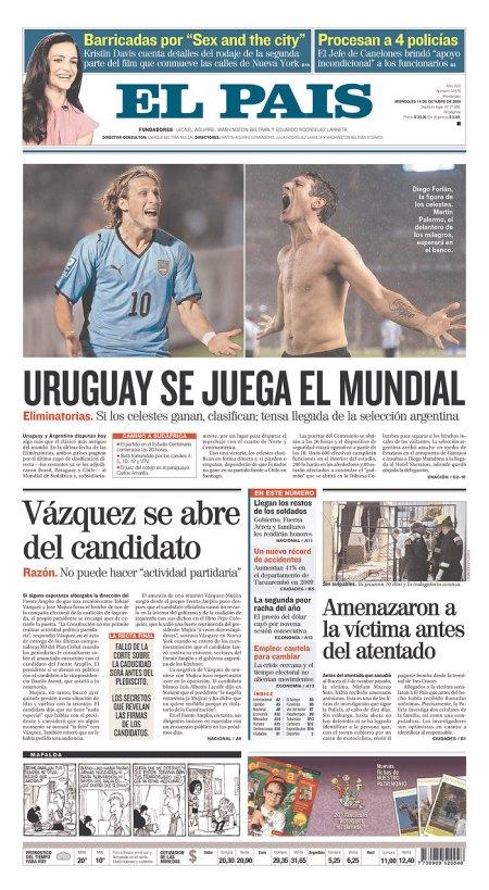 URUGUAY SE JUEGA EL MUNDIAL